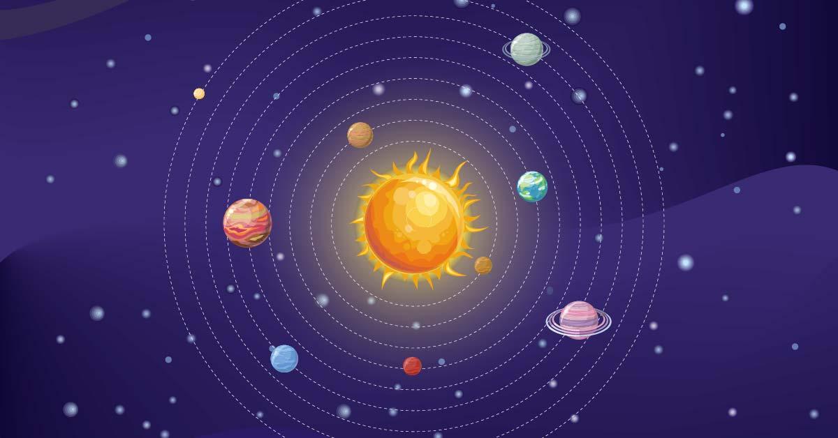 ¿Cómo mantiene el Sol los planetas a su alrededor?